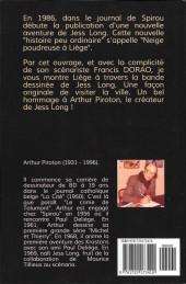 Verso de Jess Long -HSa- Liège dans la B.D. de Jess Long