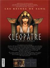 Verso de Les reines de sang - Cléopâtre, la Reine fatale -2- Volume 2
