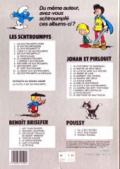 Verso de Les schtroumpfs -4a1983 Juin- L'Œuf et les schtroumpfs