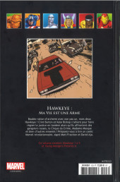 Verso de Marvel Comics - La collection (Hachette) -12384- Hawkeye - Ma Vie est une Arme