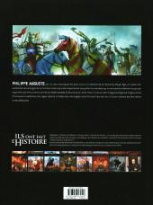Verso de Ils ont fait l'Histoire -30- Philippe Auguste