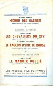Verso de (AUT) Joubert - Pinson le magicien