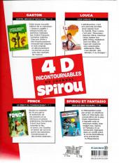 Verso de 4 BD Incontournables du journal Spirou
