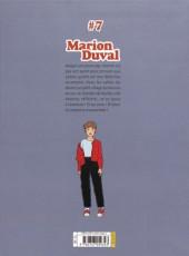 Verso de Marion Duval -INT7- Tome 7