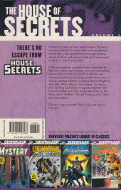 Verso de Showcase Presents: The House of Secrets (2008) -1INT01- Showcase Presents: The House of Secrets Volume One