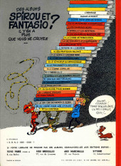 Verso de Spirou et Fantasio -6d77- La corne de rhinocéros