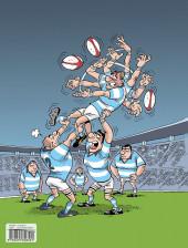 Verso de Les fous furieux du rugby - Tome 1