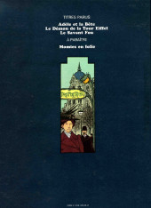 Verso de Adèle Blanc-Sec (Les Aventures Extraordinaires d') -1a76- Adèle et la Bête
