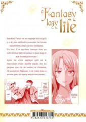 Verso de A Fantasy lazy life -1- Volume 1