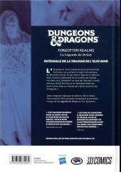 Verso de La légende de Drizzt -INT1a2018- Dungeons & Dragons : La légende de Drizzt