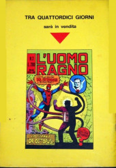 Verso de L'uomo Ragno V1 (Editoriale Corno - 1970)  -2- l'Avvoltoio/Il terribile Riparatore