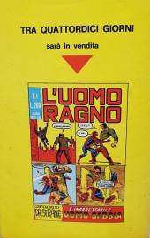 Verso de L'uomo Ragno V1 (Editoriale Corno - 1970)  -3- Lo strano Dr Octopus