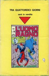 Verso de L'uomo Ragno V1 (Editoriale Corno - 1970)  -5- Il Dottor Destino