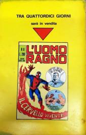 Verso de L'uomo Ragno V1 (Editoriale Corno - 1970)  -7- Il Ritorno dell'Avvoltoio