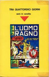 Verso de L'uomo Ragno V1 (Editoriale Corno - 1970)  -8- Il Cervello Vivente
