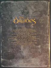 Verso de Les druides -1HC- Les Mystère des Oghams