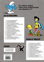 Verso de Les schtroumpfs -1e11- Les schtroumpfs noirs