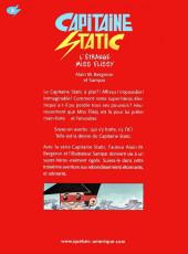 Verso de Capitaine Static -3- L'étrange miss Flissy