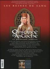 Verso de Les reines de sang - Constance d'Antioche, la Princesse rebelle -1- Volume 1