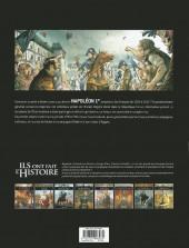 Verso de Ils ont fait l'Histoire -5a2018- Napoléon - Tome 1/3