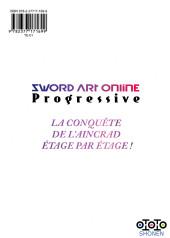 Verso de Sword Art Online - Progressive -7- Tome 7
