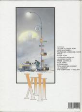 Verso de XIII -13a2000- The XIII mystery - L'enquête