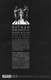 Verso de Batman - Dark Knight III -INT- Dark Knight III