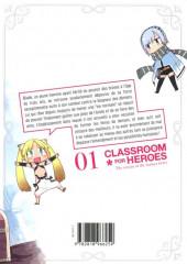 Verso de Classroom for Heroes -1- Tome 1