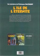 Verso de Les aventures du Professeur Baltimont -2- L'île de l'éternité