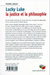Verso de (DOC) Études et essais divers - Lucky luke - la justice et la philosophie