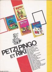 Verso de Petzi (Première série) -8- Petzi fermier