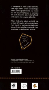 Verso de (DOC) Études et essais divers -7- Bruxelles dans la BD - La BD dans Bruxelles - Itinéraire découverte