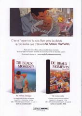 Verso de De beaux moments - Tome Extrait