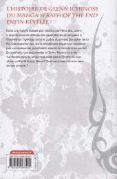 Verso de Seraph of the End -Roman5- Glenn Ichinose - La catastrophe de ses 16 ans - Tome 5