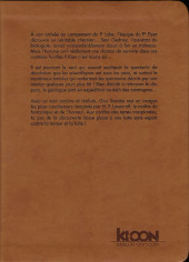 Verso de Les chefs-d'œuvre de Lovecraft -2- Les montagnes hallucinées - Tome 2