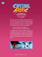 Verso de Capitaine Static -6- Mystère et boule de gomme !