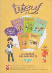 Verso de Titeuf (Publicitaire) -Quick5- titeuf et les bétises