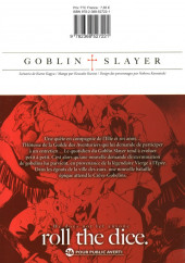 Verso de Goblin Slayer -4- Tome 4