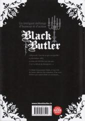 Verso de Black Butler -27- Black Pâtissier
