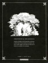 Verso de Charlotte Impératrice -1HC- La princesse et l'archiduc