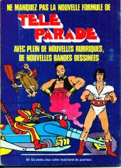 Verso de Télé parade -Rec05- Album N°5 (du n°17 au n°20)