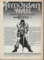 Verso de Savage Sword of Conan The Barbarian (The) (1974) -157- the Wrath of Crom