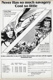 Verso de Savage Sword of Conan The Barbarian (The) (1974) -162- The Horned God