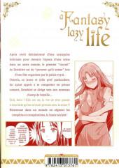 Verso de A Fantasy lazy life -2- Volume 2