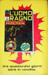 Verso de L'uomo Ragno V1 (Editoriale Corno - 1970)  -21- L'Atroce Beffa di Goblin