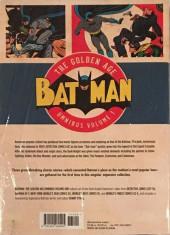 Verso de Batman: The Golden Age Omnibus (2015) -INT01a- Batman: The Golden Age Omnibus Vol. 1