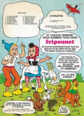 Verso de Sylvain et Sylvette -3a1983- Le lance-pierres