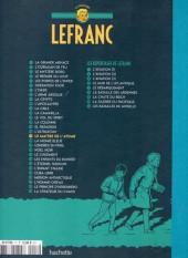 Verso de Lefranc - La Collection (Hachette) -17- Le maître de l'atome