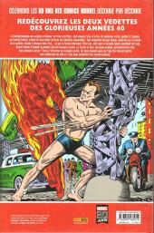 Verso de Les décennies Marvel -1- Les années 40 : la torche humaine contre le prince des mers