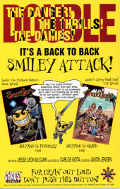 Verso de Smiley The Psychotic Button -HS- Anti-Holiday Special